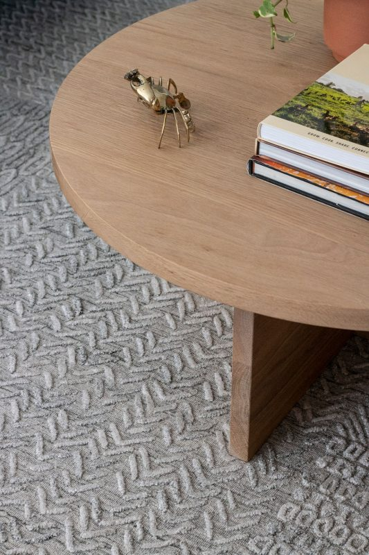 Avalon Round Coffee Table pictured in American Oak Light