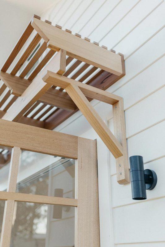 Custom awning in Tasmanian Oak