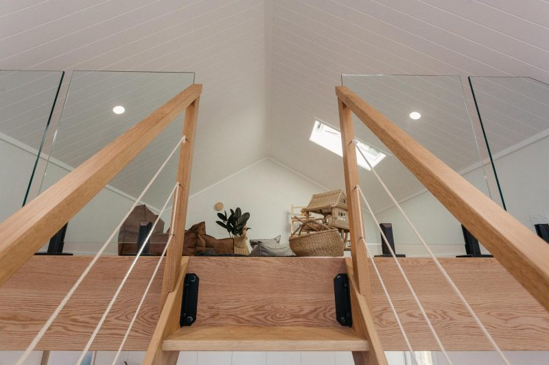 American Oak handrail and accents created for The Woodworkers Barn