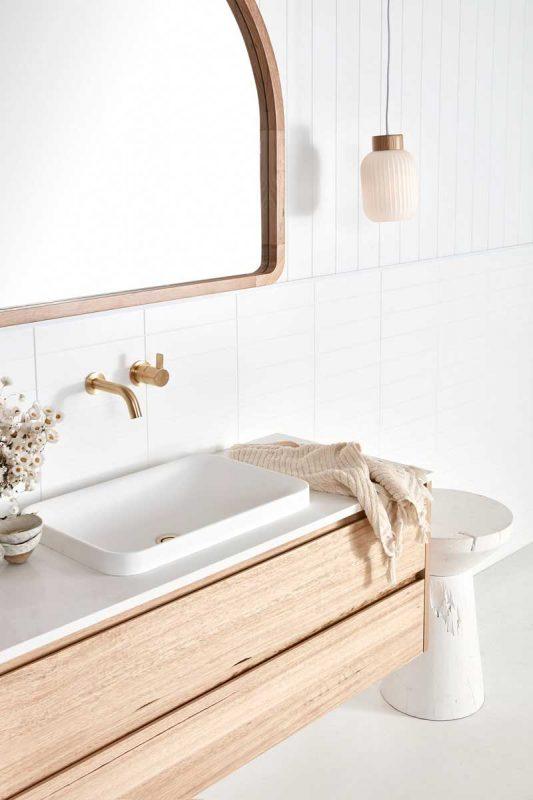 Custom timber bathroom vanities