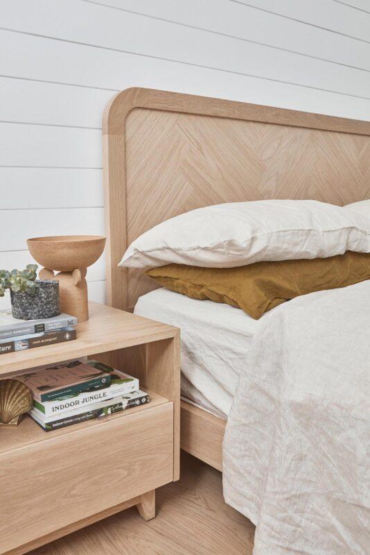 Brooklyn Bed pictured in American Oak Light