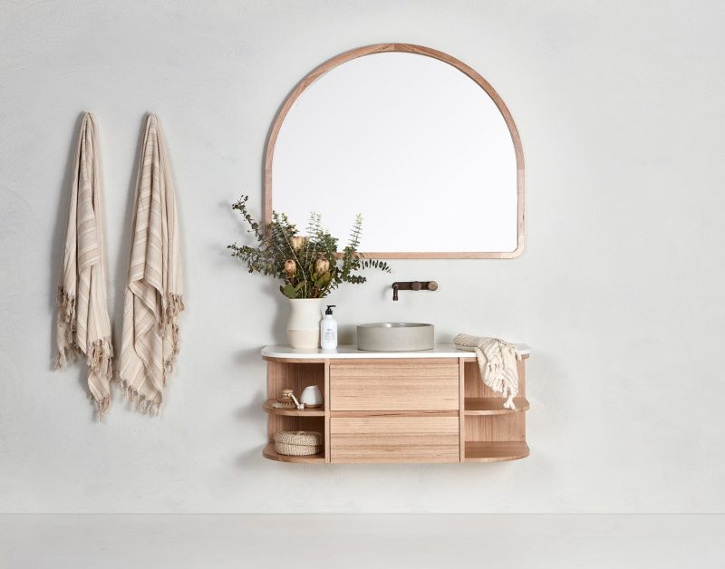 Vanity pictured in Tasmanian Oak