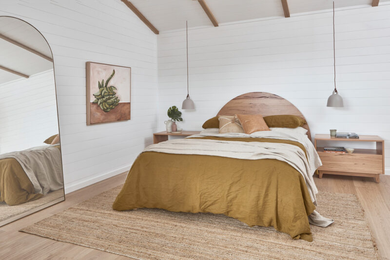 Bronte Bed pictured in Blackbutt timber