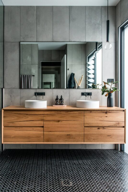 Vanity pictured in Featured Blackbutt timber