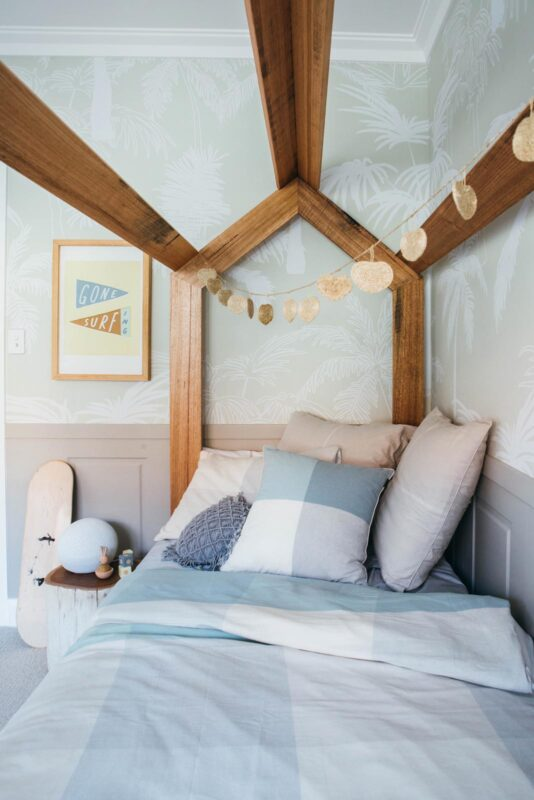 Kids House Bed pictured in featured Blackbutt