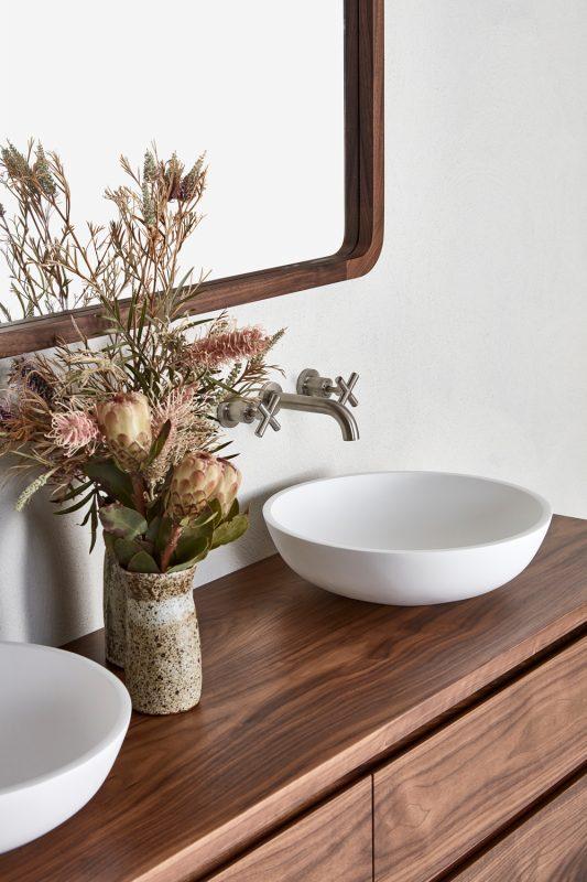 Avoca vanity in Wallnut timber