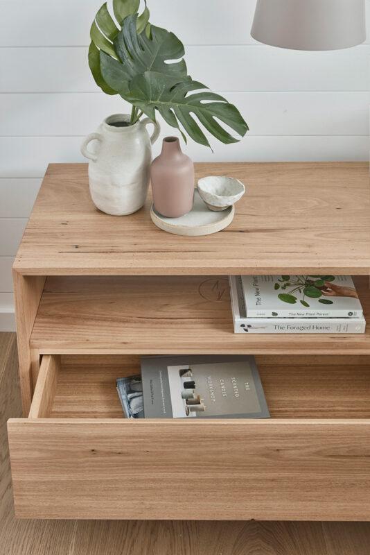 Norah Bedside in Blackbutt timber